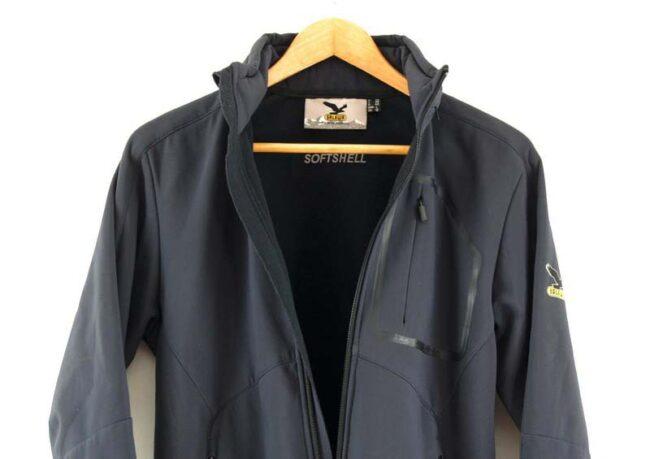 Close up of Ladies Grey Alpine Extreme Zip Through Salewa Jacket