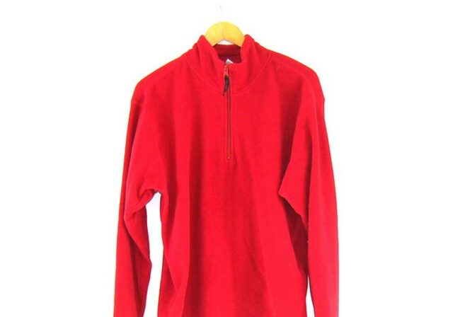 Close up Old Navy Red Zip Front Fleece
