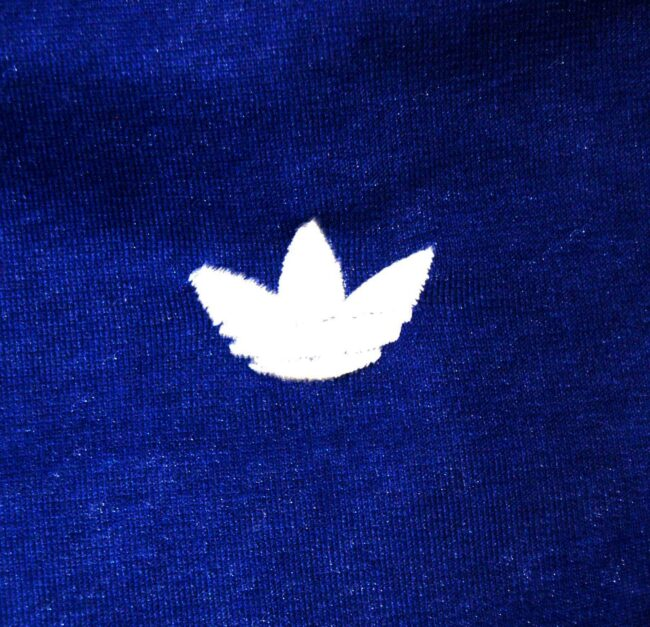 Close up of Blue Adidas Mens Shorts