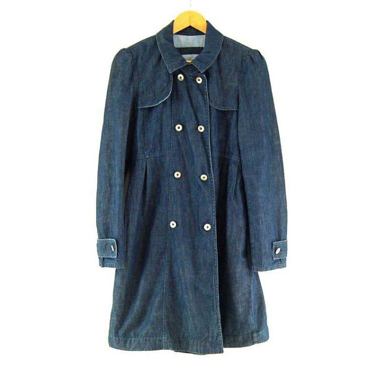 Ladies Blue Denim Max And Co Coat