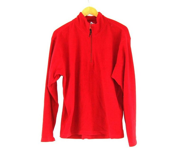Old Navy Red Zip Front Fleece