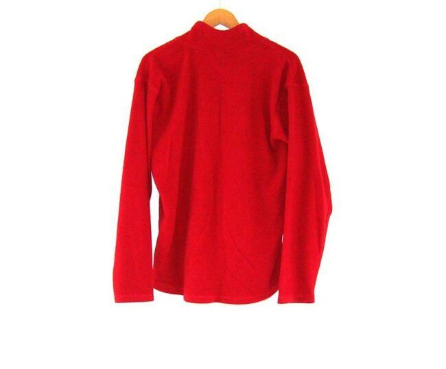 Back of Old Navy Red Zip Front Fleece
