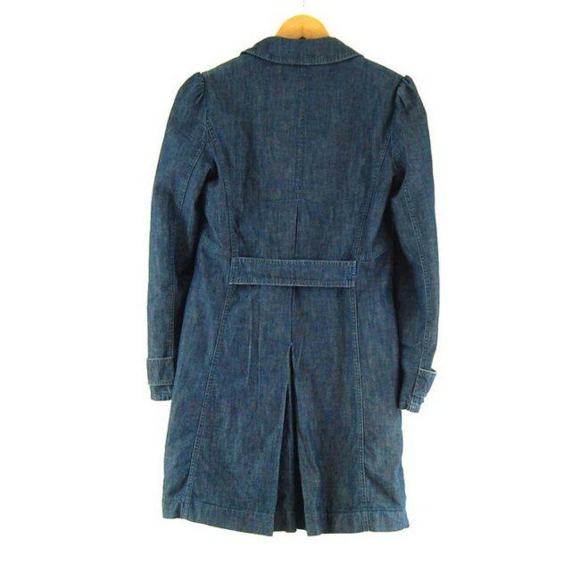 Back of Ladies Blue Denim Max And Co Coat