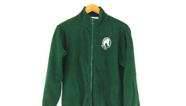 Close up Green Mustangs Retro Fleece Mens