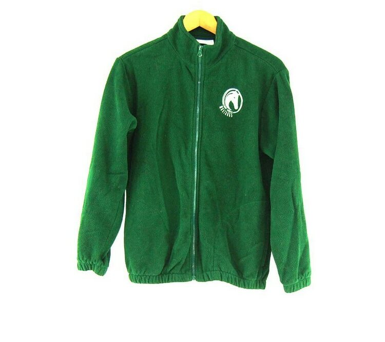 Green Mustangs Retro Fleece Mens