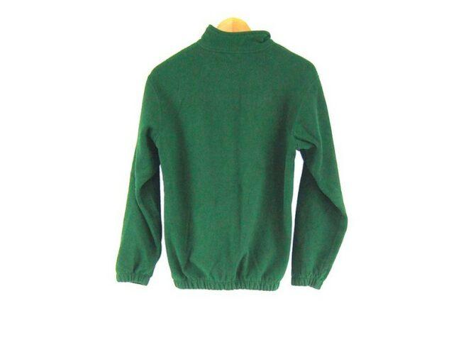 Back of Green Mustangs Retro Fleece Mens