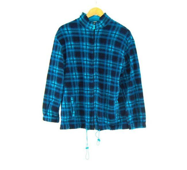 Checkered Mens 1 4 zip fleece