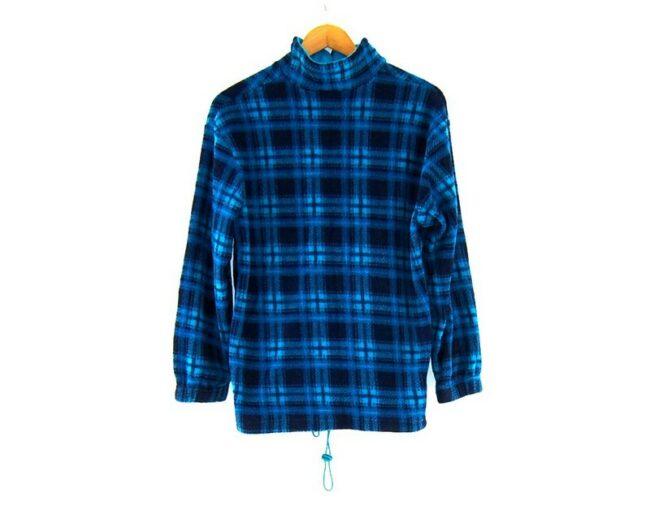 Back of Checkered Mens 1 4 zip fleece