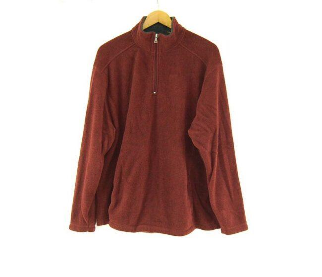 Burgundy St Johns Bay 1 4 zip fleece vintage