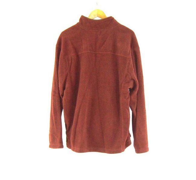 Back of Burgundy St Johns Bay 1 4 zip fleece vintage