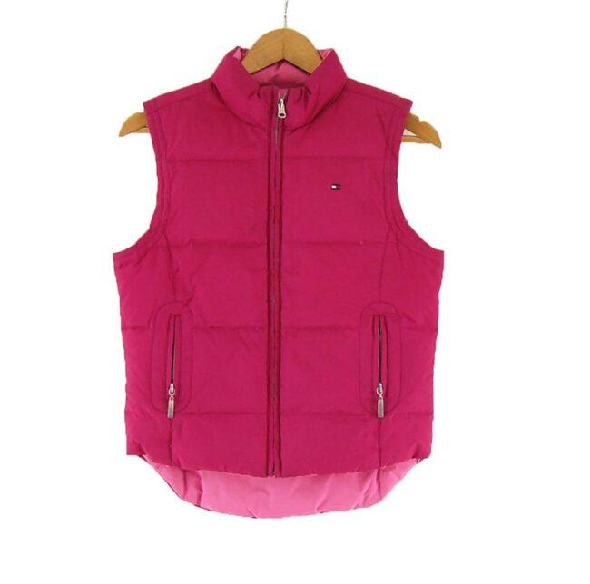 Ladies Pink Reversible Tommy Hilfiger Puffer Vest