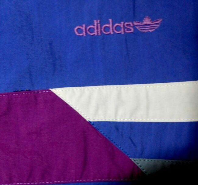 Close up of Purple Adidas Retro Shorts