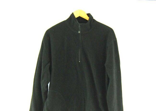 Close up of Old Navy Black Zip Fleece