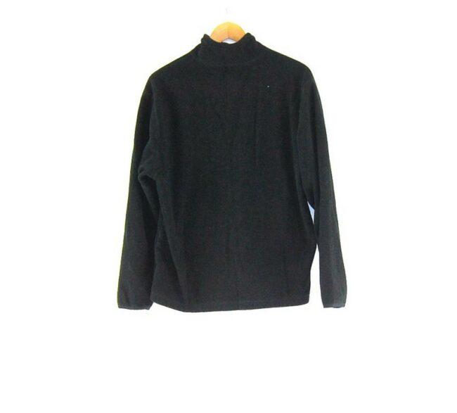 Back of Old Navy Black Zip Fleece