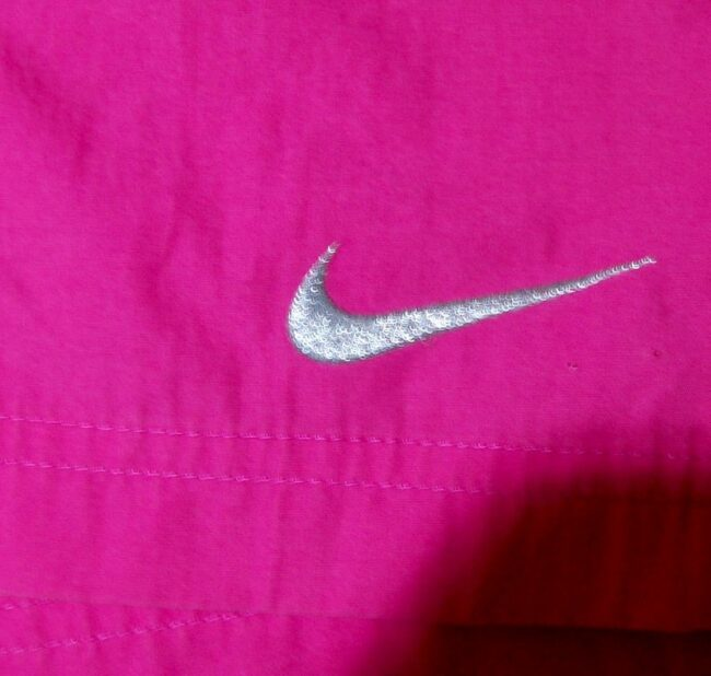 Close up of Back of Vintage Pink Nike Shorts