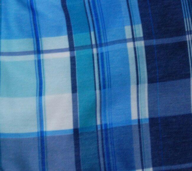 Close up of 90s Checkered Shorts Mens