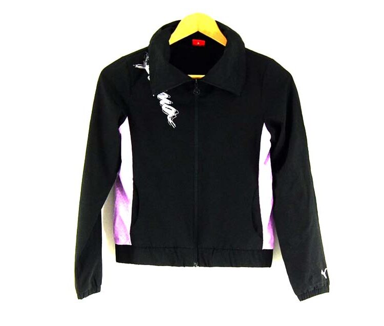 Black Puma Tracksuit Top Womens