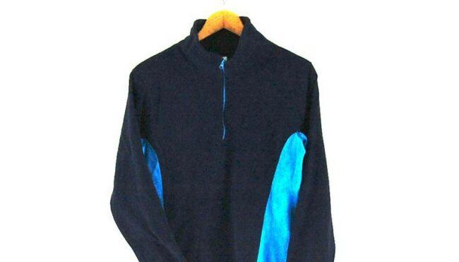 Close up of Paneled Old Navy fleece jacket