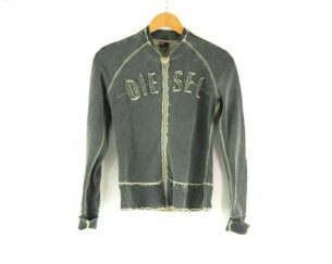 Ladies Zip Up DIESEL Grey Sweatshirt
