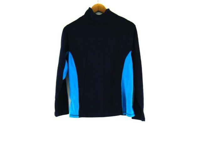 Back of Paneled Old Navy fleece jacket