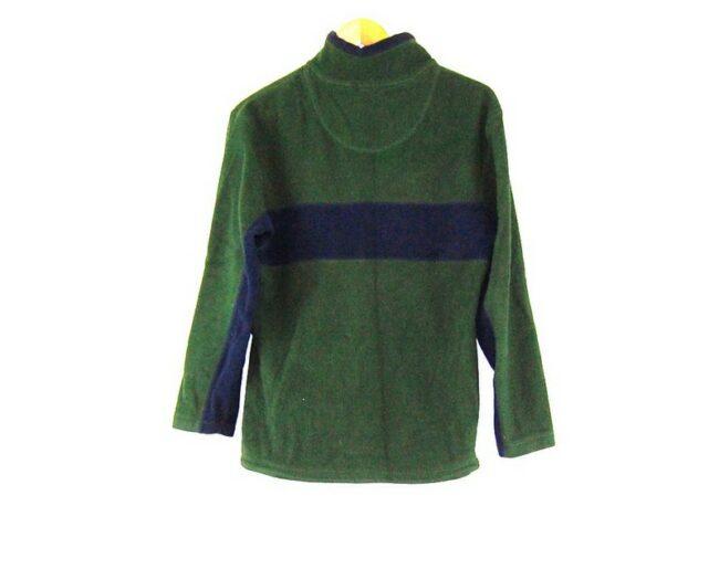 Back of lose up Old Navy Green 1 4 Zip Fleece