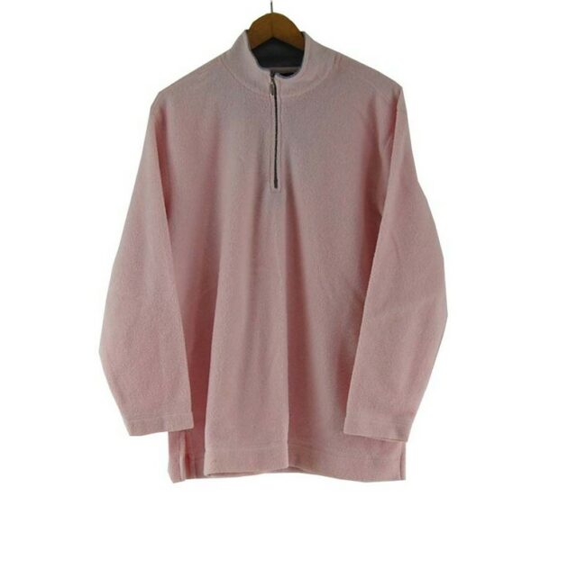 Pink Zip Fleece Top