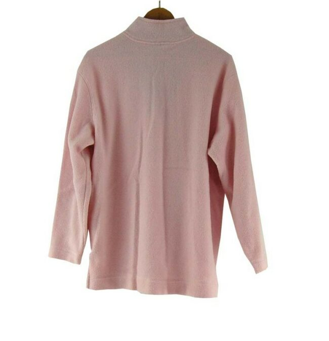 Back of Pink Zip Fleece Top