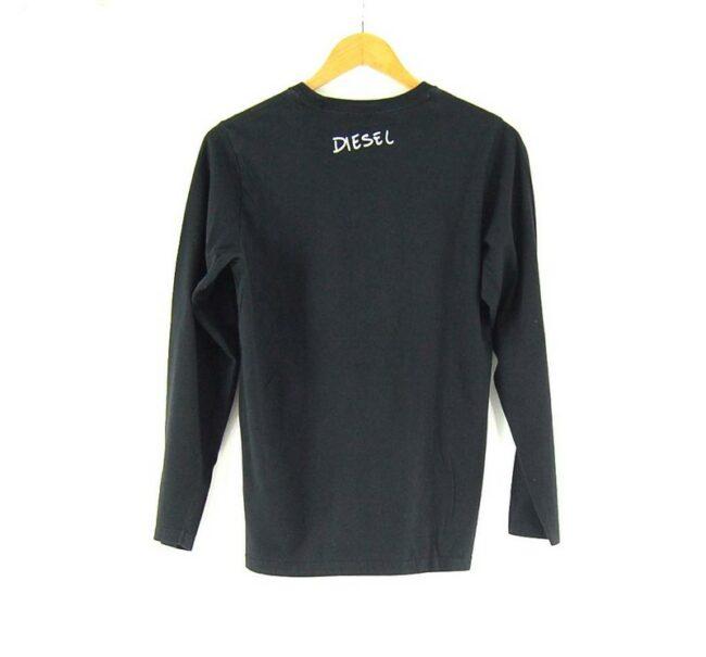Back of Ladies Black Vintage Diesel T shirt
