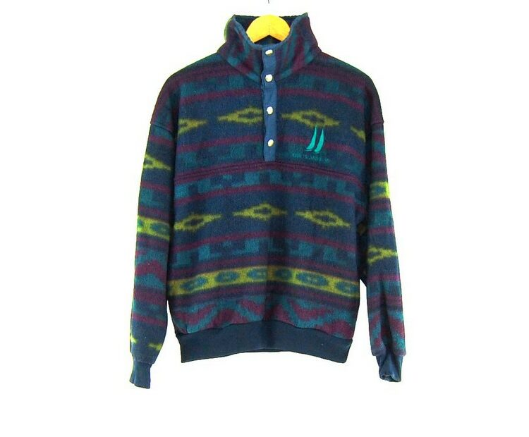 Aztec Print Colourful Fleece