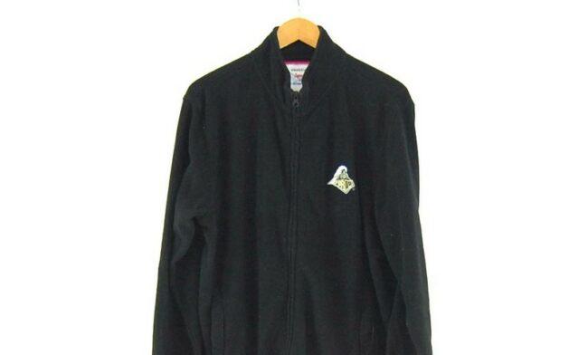Close up of Black Purdue Zip Up Fleece Jacket