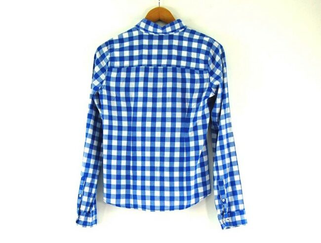 Back of Checked Hollister Ladies Shirt