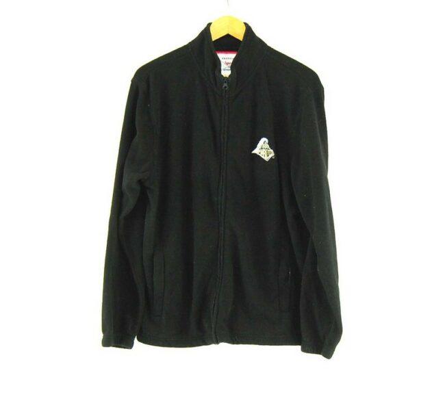 Black Purdue Zip Up Fleece Jacket