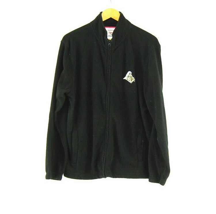 Black Purdue Zip Up Fleece Jacket