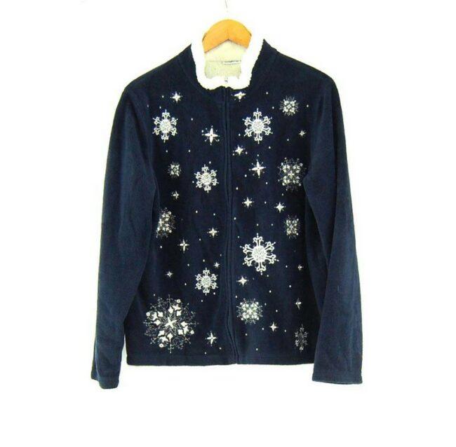 Snowflake Pattern womens Retro Fleece
