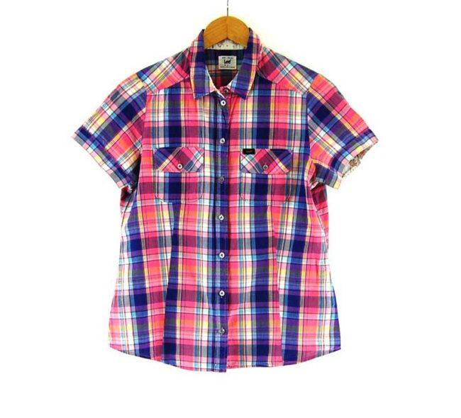 Ladies Lee Short Sleeve Check Shirt