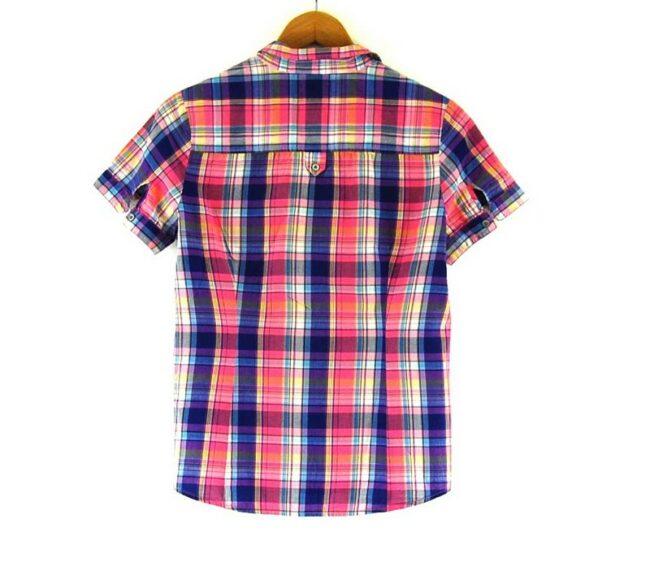 Back of Ladies Lee Short Sleeve Check Shirt
