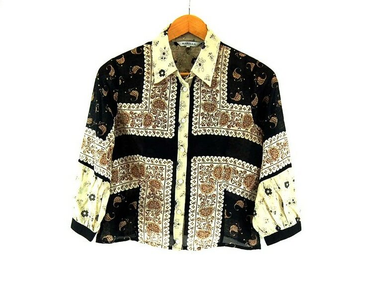 Ladies Marella Floral Print Cotton Silk Shirt