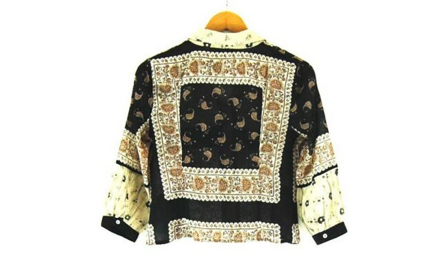 Back of Ladies Marella Floral Print Cotton Silk Shirt