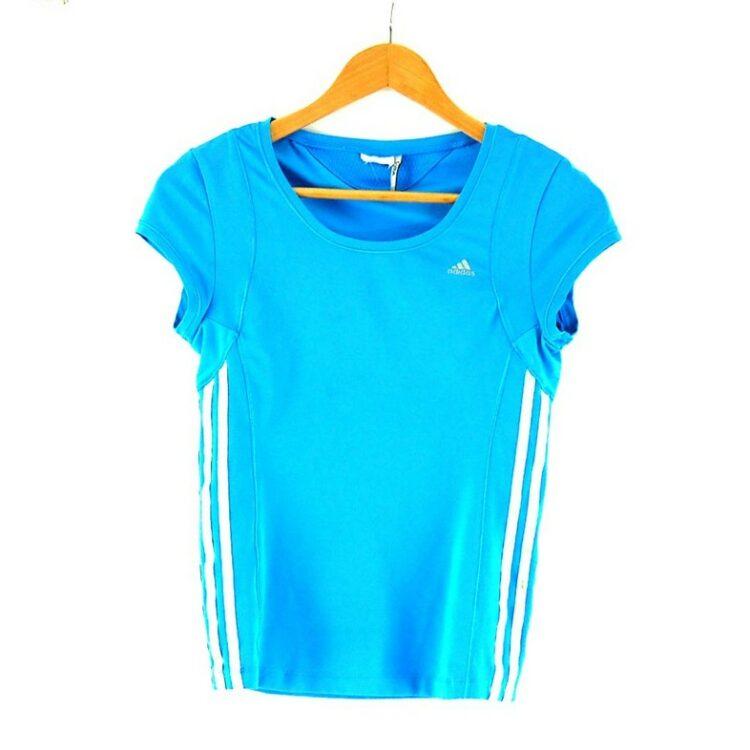 Ladies Blue Climacool Adidas Top