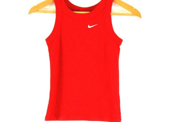 Close up of Red Nike Womens Top