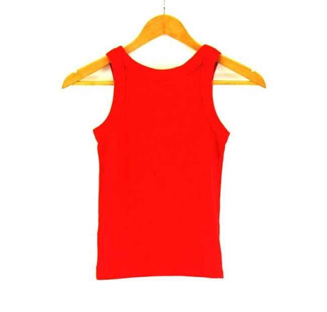 Back of Red Nike Womens Top