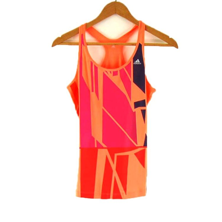 Ladies Orange Adidas Sports Top