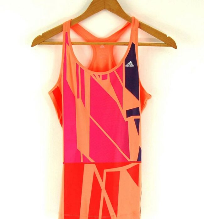 Close up of Ladies Orange Adidas Sports Top