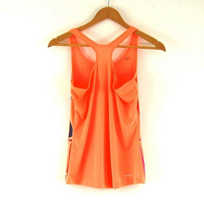 Back of Ladies Orange Adidas Sports Top