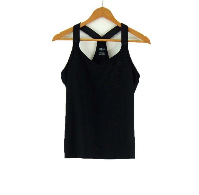 Ladies Wilson Black Gym Top