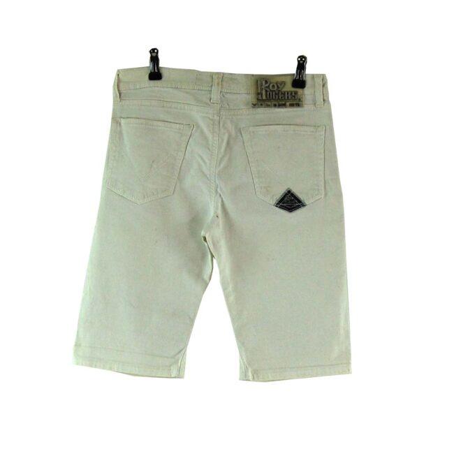 Back of Roy Rogers White Denim Shorts
