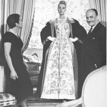 Ginette Spanier, model and Pierre Balmain. Image via Wikipedia.