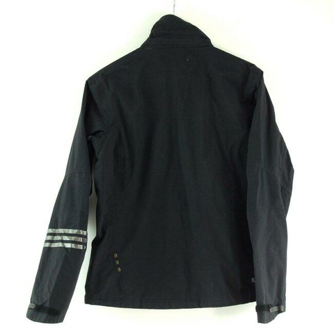 Back of Close up of Adidas Zip Up Jacket Black