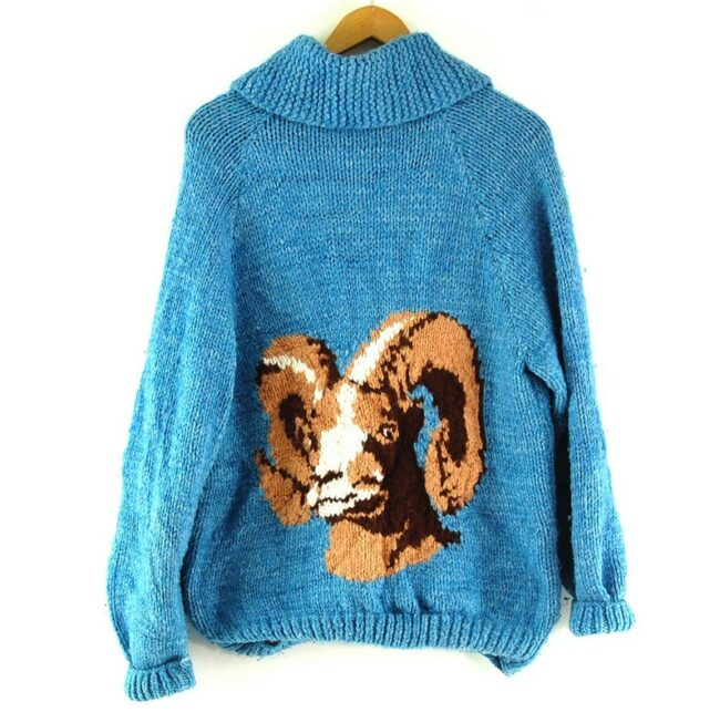 Back of Ram Cowichan Sweater 60s