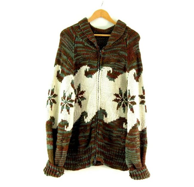 70s Snowflake Cowichan Sweater